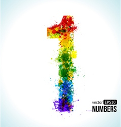 Color paint splashes gradient number 1 vector