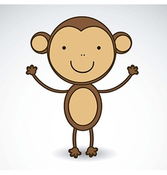 Cute monkey vector