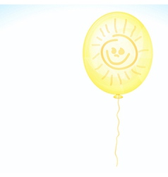 Yellow smile balloon vector