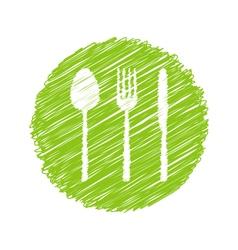 Green vegetarian restaurant sign vector