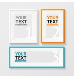 Colorful picture frame option banner vector