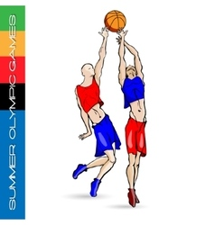 Summer olympic igry volleyball 2 vector