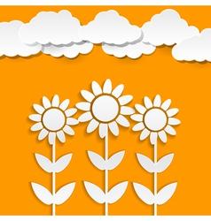 Paper sunflowers vector