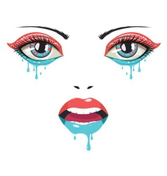 Face of paint2 vector