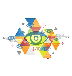 Abstract background and eye vector