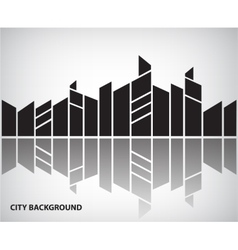 Abstract silhouette city background with vector