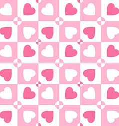 Valentines day pattern with hearts paper for vector
