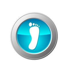 Foot button vector