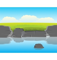 Coast calm yard vector