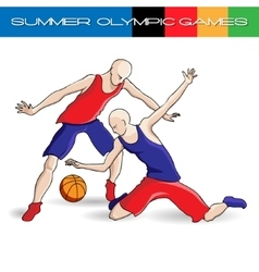 Summer olympic games volleyball vector