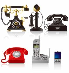 Telephone sets vector
