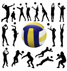 Volleyball player vector