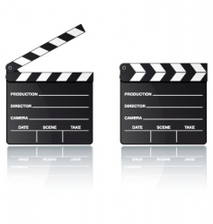 Digital movie clapper board vector