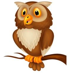 Cute owl cartoon vector
