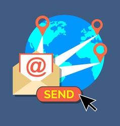 E-mail marketing newsletter concept flat design vector