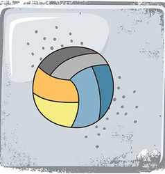 Volleyball sports theme vector