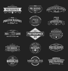 Vintage badges photography vector