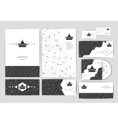 Document template with triangle background vector