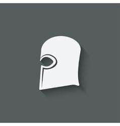 Antique helmet symbol vector