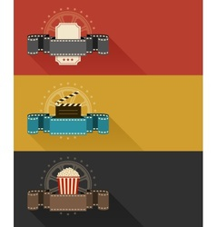 Retro movie theater posters vector