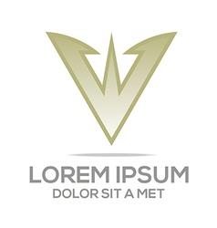 Abstract logo av symbol element logo template vector