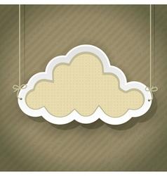 Cloud retro2 01 vector