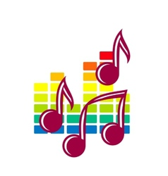 Festival or party icon with music notes vector