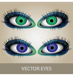 Eyes set eps10 vector