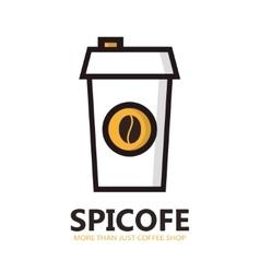 Disposable coffee cup icon vector