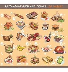 25 food and drink images vector