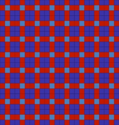 Blue and red symmetrical checkered plaid vector
