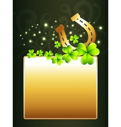 Beautiful st patricks day design vector