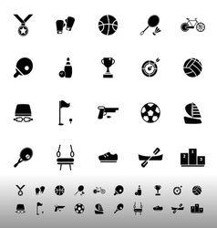 Sport game athletic icons on white background vector