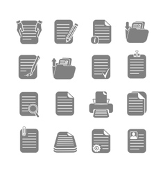 Documents files and folders icons set vector