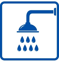 Icon with shower head vector