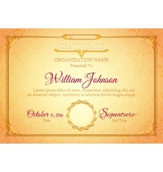 Golden classic premium plaque vector