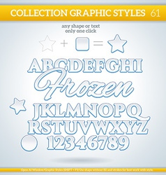 Frozen graphic styles for design use for decor vector