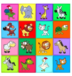 Group of funny animals vector