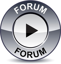 Forum round button vector