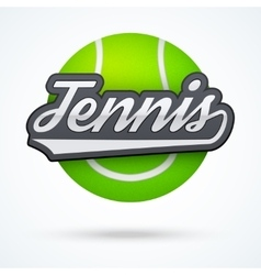 Premium tennis label vector