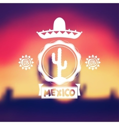 Mexico background design vector