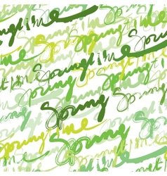 Seamless inscriptions springtime vector