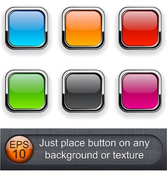 Square glossy buttons vector