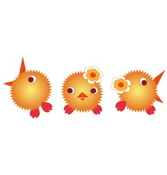 Brother chickens vector