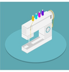 Isometric flat of sewing vector