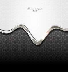 Abstract silver technology background vector