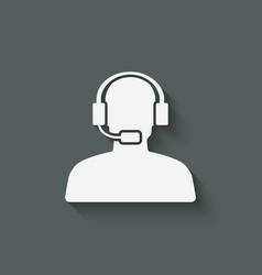 Man call center support symbol vector