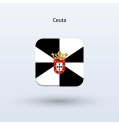 Ceuta flag icon vector