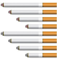 Cigarettes - orange filter vector