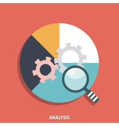 Analysis icon flat vector